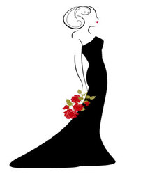 woman in drees vector image
