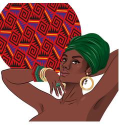 african american black beauty woman portrait vector image