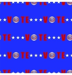 American vote seamless pattern vector