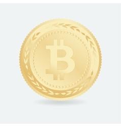 Bitcoin Gold coin with Bitcoin symbol vector image