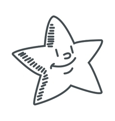 cute chubby star icon vector image