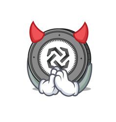devil bytom coin mascot cartoon vector image vector image