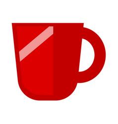 minimalistic red mug vector image