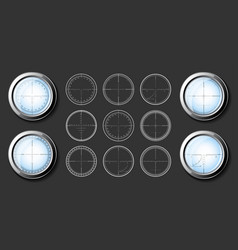 sniper crosshairs set vector image