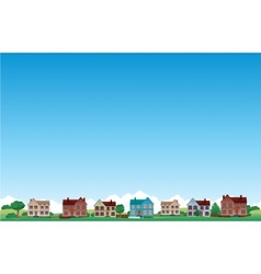 suburb city background vector image vector image
