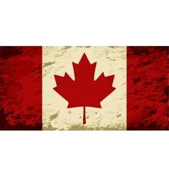 Canadian flag Grunge background vector image