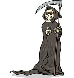 death skeleton cartoon vector image