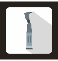 Dental drill icon in flat style vector