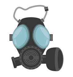 gas mask respiration protective vector image