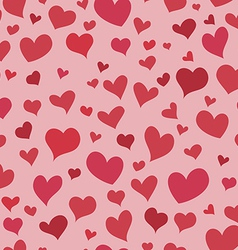 Love red heart seamless background bright pattern vector image vector image