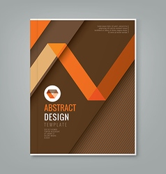 abstract orange line design on brown background vector image