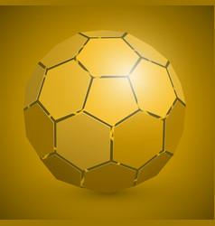 abstract soccer 3d ball yellow vector image
