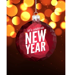 Happy New Year poster background Greeting banner vector image vector image