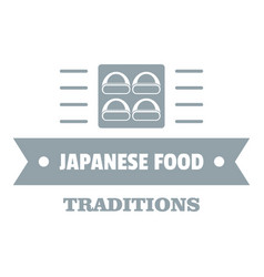 japanese food logo simple gray style vector image vector image