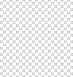 Simple black white seamless geometric pattern vector image