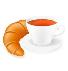 cup of tea 04 vector image vector image