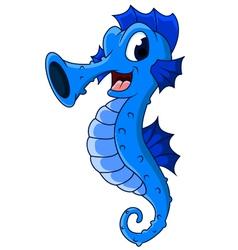 cute seahorses cartoon vector image
