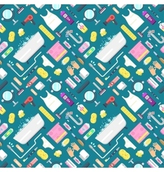 Hygiene pattern with bathroom elements vector