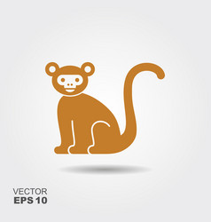 monkey flat icon vector image