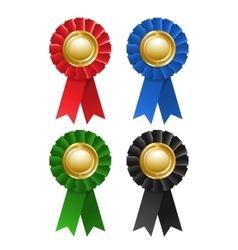 Set of award rosette vector image vector image