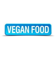 Vegan food blue 3d realistic square isolated vector image vector image