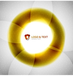 Yellow blur wave abstraction vector image vector image