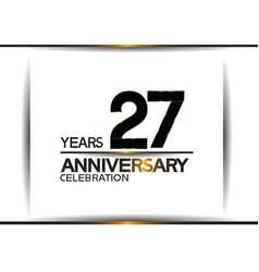 27 years anniversary black color simple design vector
