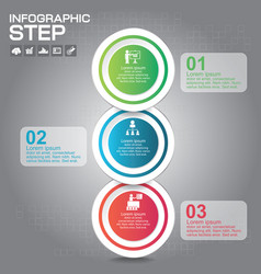 3 steps infographic design elements for your vector image
