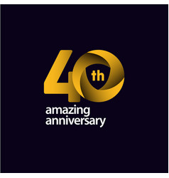 40 years amazing anniversary celebration template vector