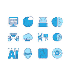 artificial intelligence icon innovation smart vector image