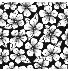 Beautiful black and white seamless background vector image