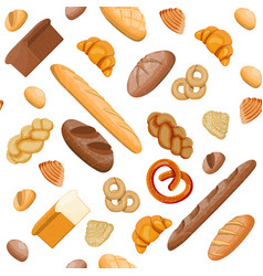big bread icons set seamless pattern vector image