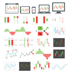 binary options icons vector image