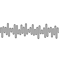 black curvy line on white background radio wave vector image