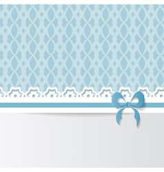 blue greeting card vector image
