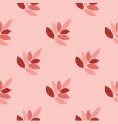 Bright leaves ornament seamless pattern design in vector