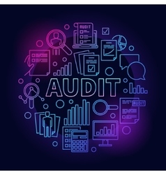 Business audit colorful vector