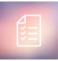 Checklist list thin line icon vector image