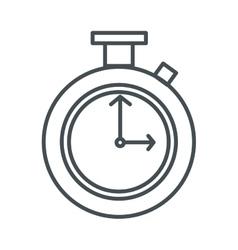 Chronometer line icon vector