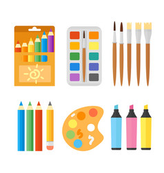 colored engineering paints and pencils vector image