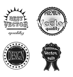 Commercial stamps set in vintage style vector