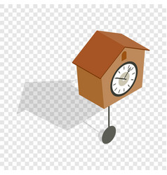cuckoo clock isometric icon vector image