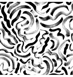 curly waves hand drawn seamless pattern vector image