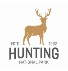 Deer hunters club label or logo template vector