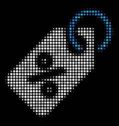 discount tag halftone icon vector image