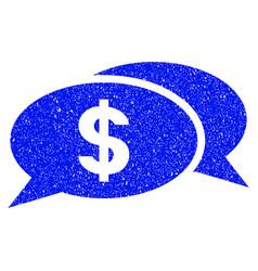 Dollar chat grunge icon vector