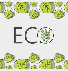 Ecology leaves background decoration design vector