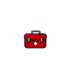 first aid kit box flat object medicine chest with vector image