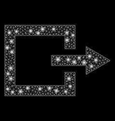 Flare mesh network exit with flare spots vector
