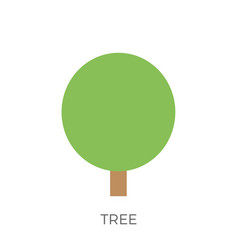 flat tree icon vector image